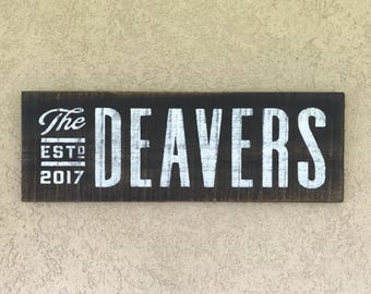 Custom Wedding Gift Sign, Last Name Sign, Est. Sign, Name Established Date sign, Pallet Sign, Gallery Wall Family Name Sign, Anniversary