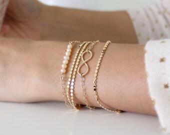 Minimalist gold bracelet • Everyday dainty gold bracelet