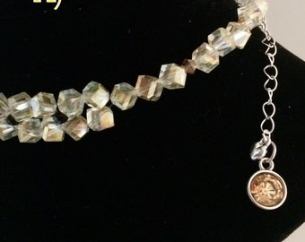 House Colors Inspired Chocker Necklaces Yellow Black Silver Crystal Beads