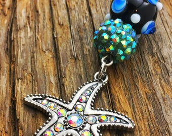 Starfish tropical long necklace