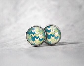 Earrings 12 mm cabochon / patterns