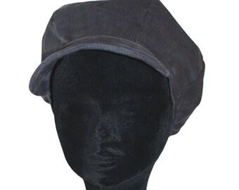 Grey newsboy cap mouse corduroy