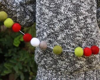 Mistletoe Felt Ball Garland