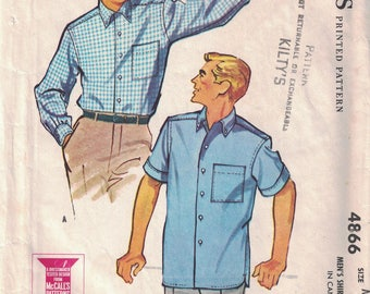 McCall's 4866 Men's Shirt Pattern