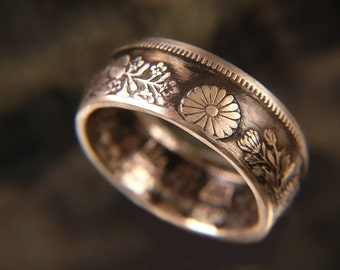 Japanese silver ring Etsy