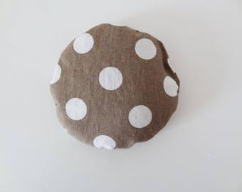Special handbag! Mini polka dot heating pad. ideal migraines, colic anti