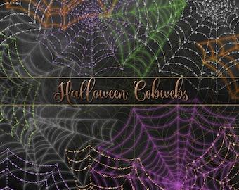 Halloween Cobweb Overlays, Spider Web Clipart, digital PNG Halloween graphics, spiderweb digital overlays, spider web instant download