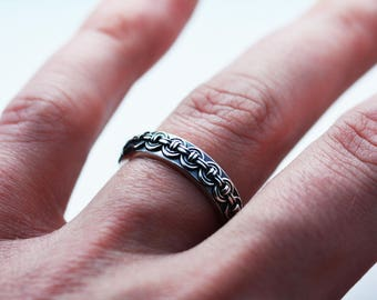 Chain Armor Style Sterling Silver ring