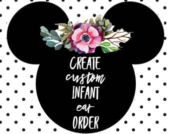 Create Custom INFANT Ears Order
