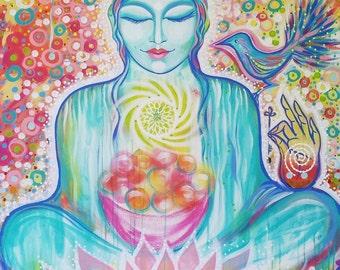 Goddess Kwan Yin - A3 PRINT  11.5 X 16.5 INCHES