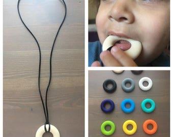 FDA Food Grade Silicone Chew Necklace, Sensory Chew Necklace, Chewlery, Autism Chew Necklace