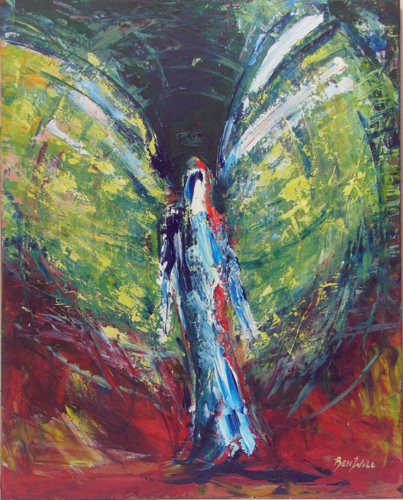 Angel Surrender Vision of Angels Print of an Original Painting by artist BenWill