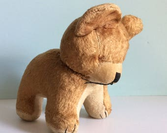 Vintage Steiff Tebby Bear On All Fours, Collectible Teddy Bears, Vintage Stuffed Teddy Bears, Sewn Nose And Sawdust Filled Stuffed Animal