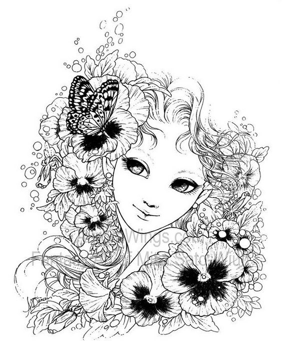 Fantasy Art Coloring Book with 19 Images Gardens & Goddesses