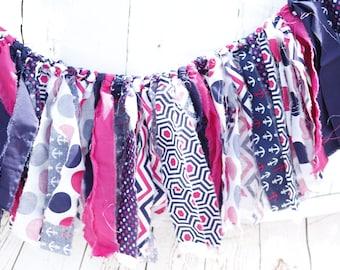 Shabby Chic Fabric Rag Tie Swag/Garland/Banner Weddings/Photo Props/Decro