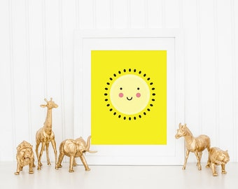 Sunshine Children's Wall Art Print, You Are My Sunshine, Yellow Nursery Art Prints