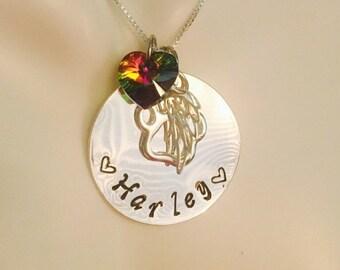 Personalized Rainbow Bridge Pet Loss Necklace - Pet Loss- Pet Loss Gift -  pet memorial - pet loss jewelry - memorial gift - Loss of Pet