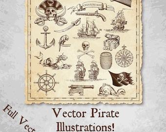 Pirate Island Treasure Map Decorations