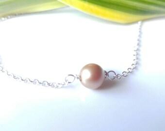 Anklet, Pearl Anklet, swarovsky pearl anklet, Sterling silver anklet, gold  pearl, bracelet, necklace,toddlers, girls, teens, mom, gift