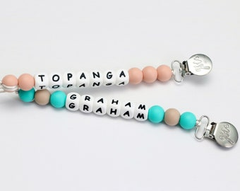 Personalized Silicone Pacifier Clip