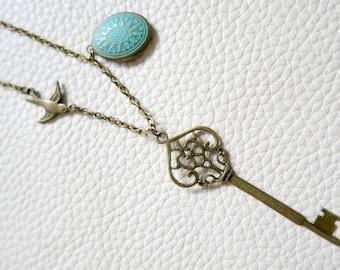 Necklace locket key