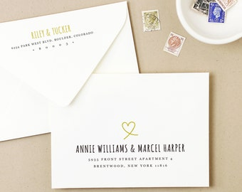 Printable Wedding Envelope Template | INSTANT DOWNLOAD | Heart | Calligraphy Alternative | for Word or Pages Mac & PC