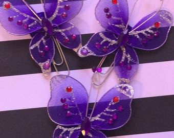 Purple butterfly paperclips or magnet