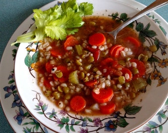 Barley Vegetable Soup Mix, Gourmet Soup at home, dry mix, vegan