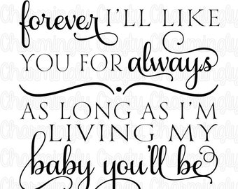 Love You Forever Quote SVG PNG Studio Cuttable Quote For Silhouette Cameo Cricut Vinyl