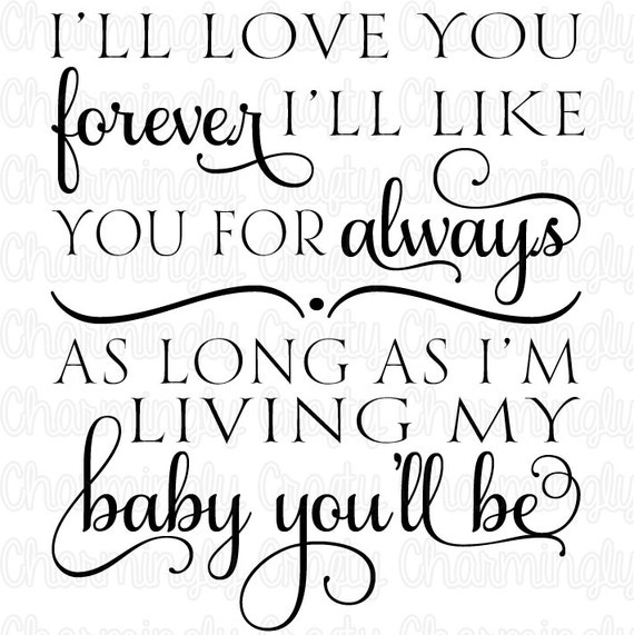 Marvelous Love You Forever Quote SVG PNG Studio Cuttable Quote For Silhouette Cameo  Cricut Vinyl