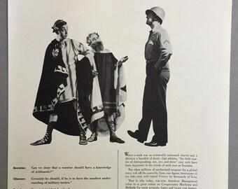 1943 Felt & Tarrant Manufacturing Print Ad - Comptometer - Calculating Machines - WWII Era - WW2