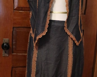 Vintage Women's Vest and Skirt - Lew Magram Collection