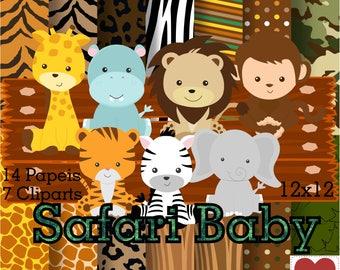 Safari Baby Digital Paper Safari Baby Kit Digital