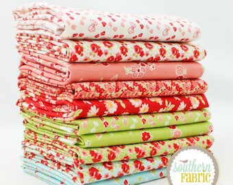 "Little Ruby - Fat Quarter  Bundle - 10 - 18""x21"" Cuts - Bonnie and Camille - Moda Quilt Fabric"