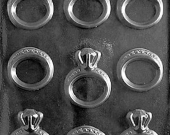 LOPW-051 - Wedding and Engagement Rings Chocolate Candy Mold