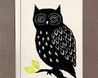 Owl - Notecard
