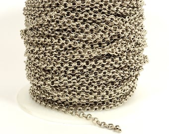 4mmRolo Chain - Antique Silver - Plated in the USA - CHG1.2-AS - Choose Your Length