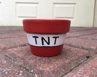 TNT painted pot