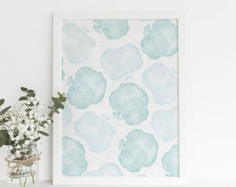 Beach House Print, Coastal Themed Artwork, Sea Fan Print, Coral Artwork, Printable Wall Art, Digital Files, Nautical Home Painting,