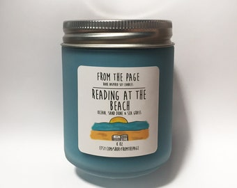 Reading at the Beach Soy Candle - 8 oz