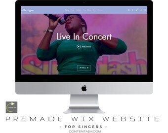 Wix Template | Web Design | Singers Website Premade Theme | Gallery | Wix Website