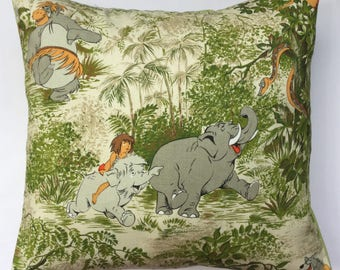 Disney Jungle Book Vintage Fabric Cushion Selection - handmade by Alien Couture