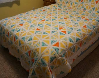 Orange Triangle Quilt