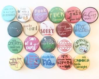 My Favorite Murder Button Pin Lot