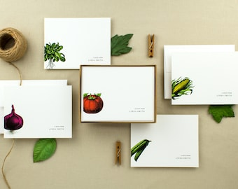 Farmstand Personalized Note Cards | Set of 10 Flat Cards