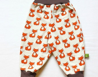 Baby Pants / Baby Harem Pants / Gender neutral Baby Clothes / Toddler Harem Pants / Harem Pants fox/ Fox Pants