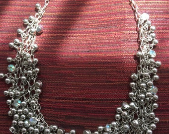 Vintage silver charm necklace