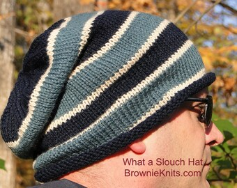 What a Slouch Hat Knitting Pattern