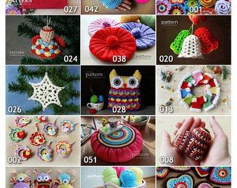 Crochet Patterns - Pick Any 5 Crochet and Knitting Patterns Bundle