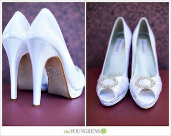 I Do Wedding Shoe Stickers - SILVER  I Do Wedding Shoe Appliques - Rhinestone I Do Shoe Stickers for your Bridal Shoes